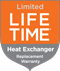 Whirlpool Heat Exchanger Limited Lifetime Warranty