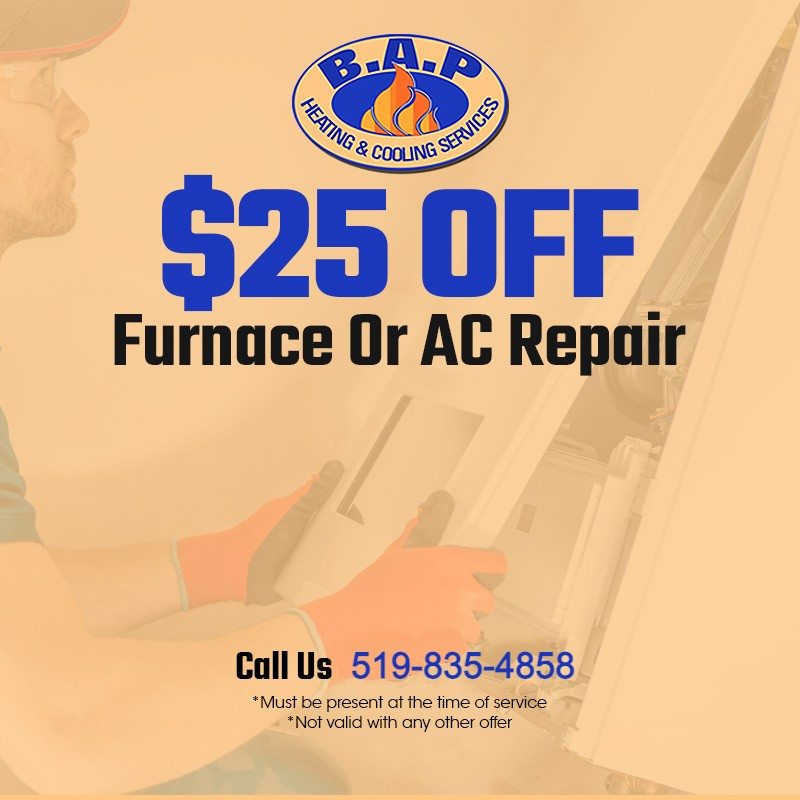$ 25 OFF FURNACE OR AC REPAIR