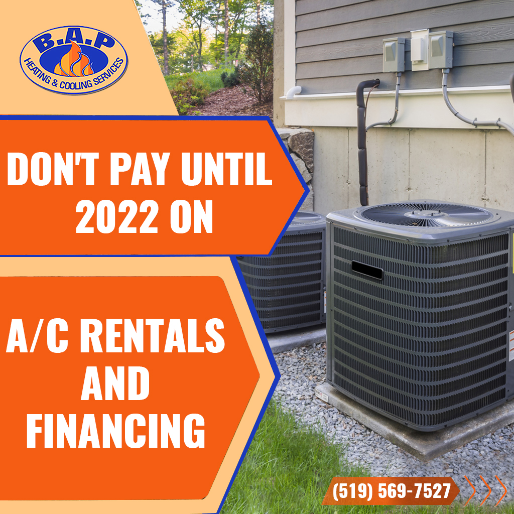 Don't pay until 2022 on A/C rentals and financing.